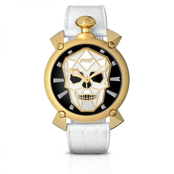 Bionic Skull Automatic 45mm - Yellow gold plated