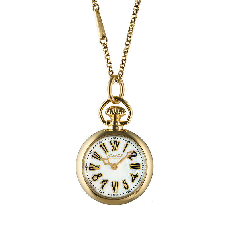 Necklace Watch - Yellow gold plated