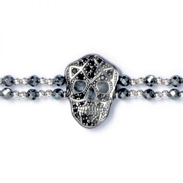 Skull Bracelet - Black IP - Man