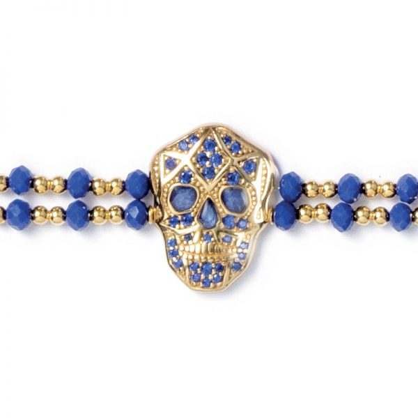 Skull Bracelet - Yellow gold plated - Man
