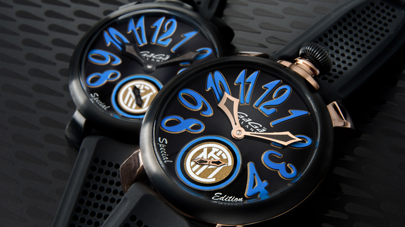Immagine GaGà Milano sets the time of Inter passion and celebrates the team with a watch in Special Edition