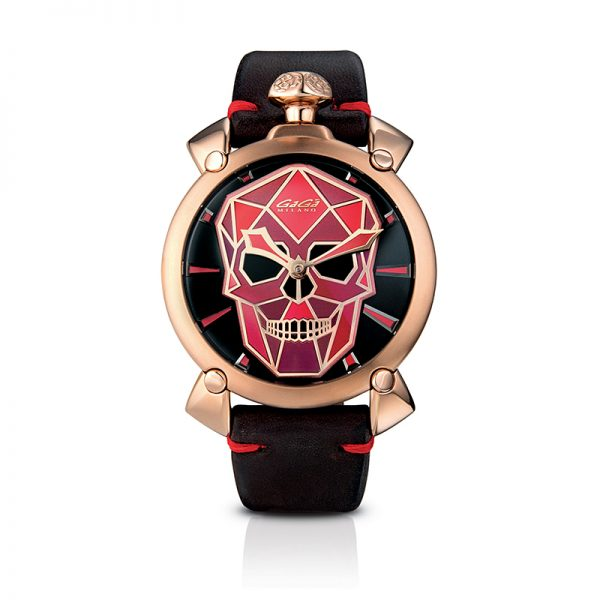 Bionic Skull 48mm - Rose gold plated
