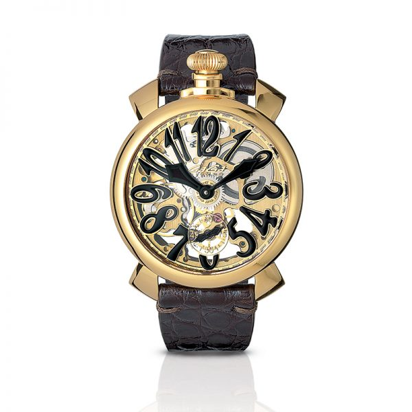 Skeleton 48mm - Yellow gold plated