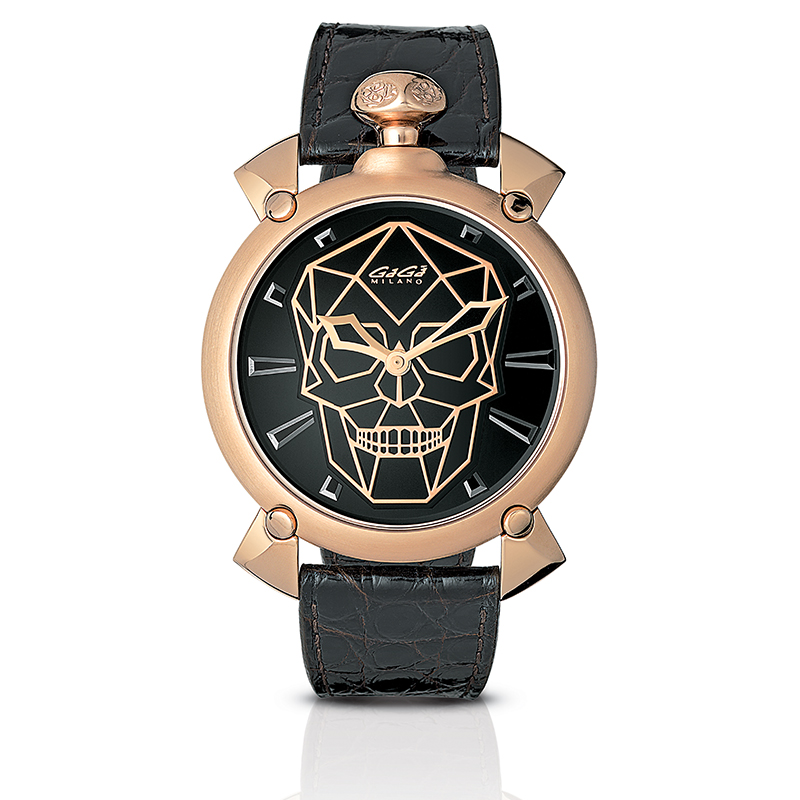 Bionic Skull Automatic 45mm - Rose gold plated