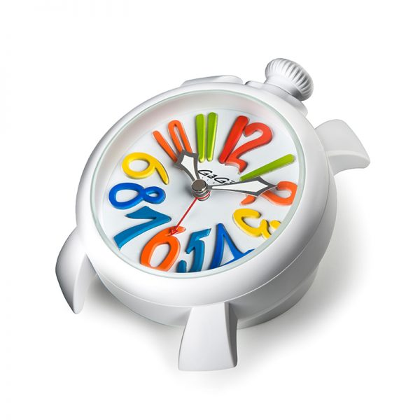 Table clock - Multicolor white