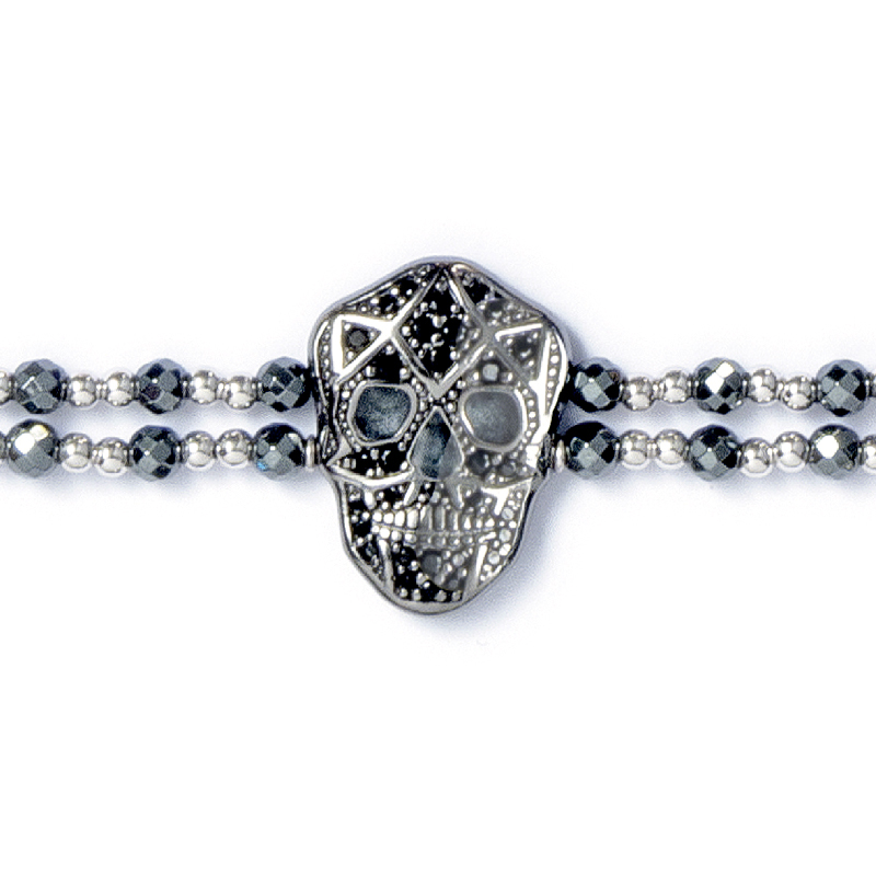 Skull Bracelet - Black IP - Woman