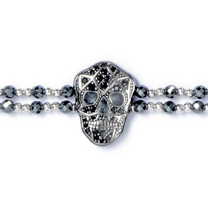 Skull Bracelet - Black IP - Man