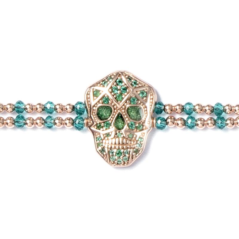 Skull Bracelet - Rose gold plated - Woman