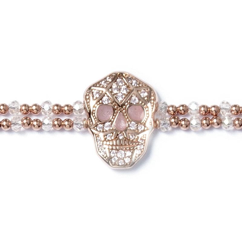 Skull Bracelet - Rose gold plated - Man