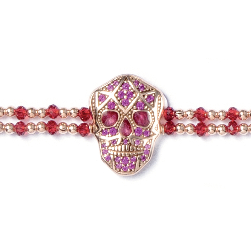 Skull Bracelet - Rose gold plated - Woman