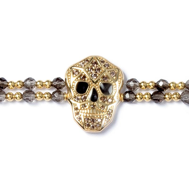 Skull Bracelet - Yellow gold plated - Woman